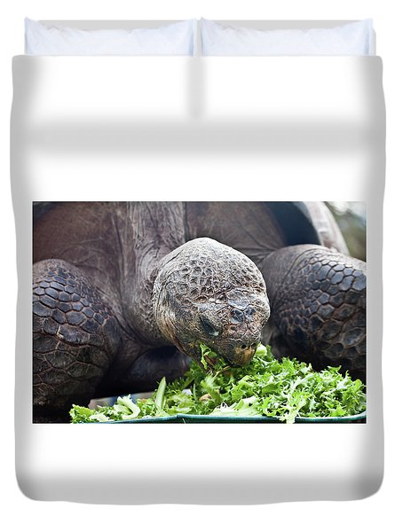Duvet Cover featuring the photograph Lettuce Makes You Strong by Miroslava Jurcik