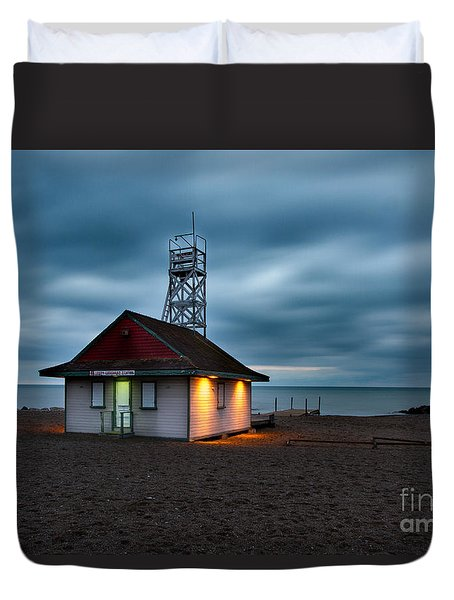Leuty Life Saving Station Duvet Cover
