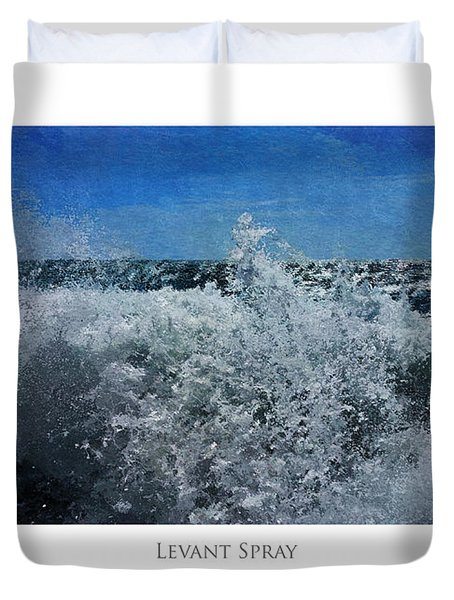 Duvet Cover featuring the digital art Levant Spray by Julian Perry