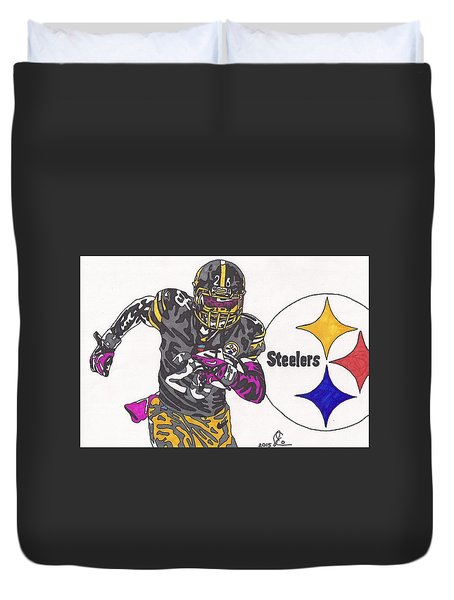 Le'veon Bell 2 Duvet Cover by Jeremiah Colley