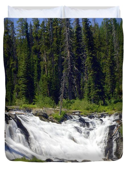 Lewis Falls Duvet Cover by Marty Koch