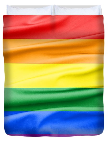 Lgbt Rainbow Flag Duvet Cover