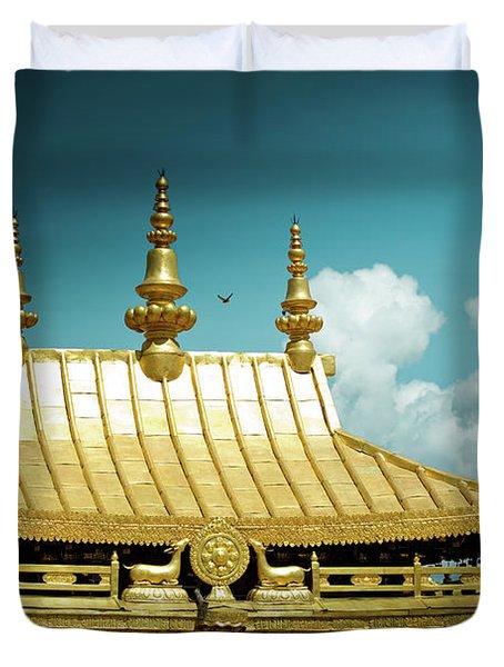 Lhasa Jokhang Temple Fragment Tibet Artmif.lv Duvet Cover