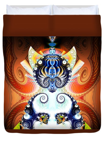 Li Shou - Ancient Chinese Cat Goddess Duvet Cover