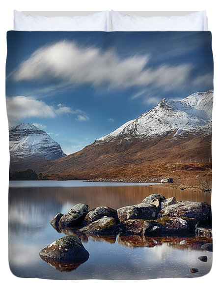 Duvet Cover featuring the photograph Liathach by Grant Glendinning
