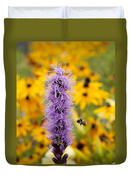 Liatris And The Bees Duvet Cover