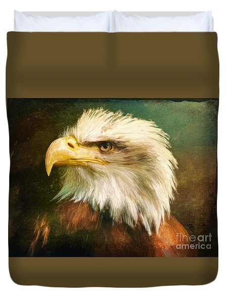 Liberty And Justice Duvet Cover by Tina LeCour