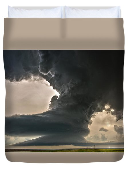 Duvet Cover featuring the photograph Liberty Bell Supercell by James Menzies