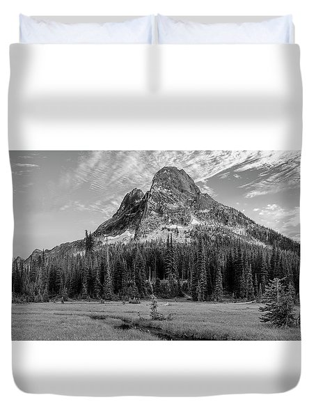 Liberty Mountain At Sunset Duvet Cover by Jon Glaser