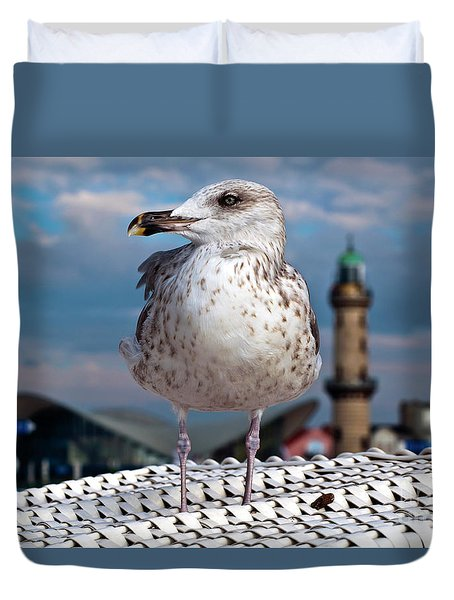 Liberty Of An Pacific Gull Duvet Cover
