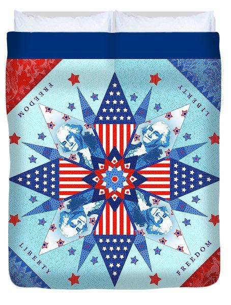 Liberty Quilt Duvet Cover by Valerie Drake Lesiak