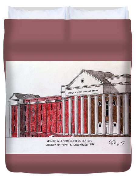 Liberty University Demoss Learning Center Duvet Cover