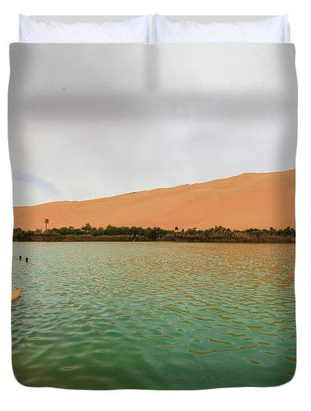 Libyan Oasis Duvet Cover