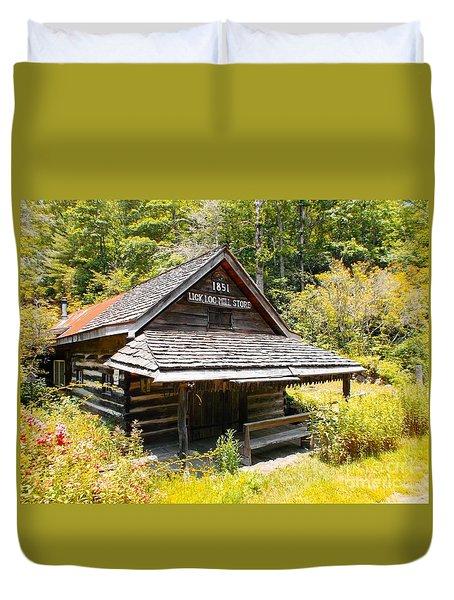 Lick Log Vintage Store Duvet Cover