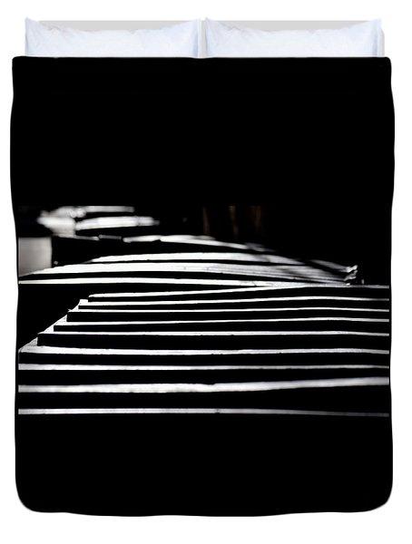 Lids Duvet Cover by David Gilbert