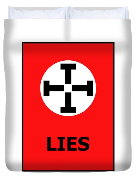 Lies Duvet Cover by Richard Reeve