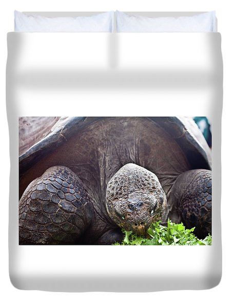 Duvet Cover featuring the photograph Life Begins At 60 For Vegetarian by Miroslava Jurcik