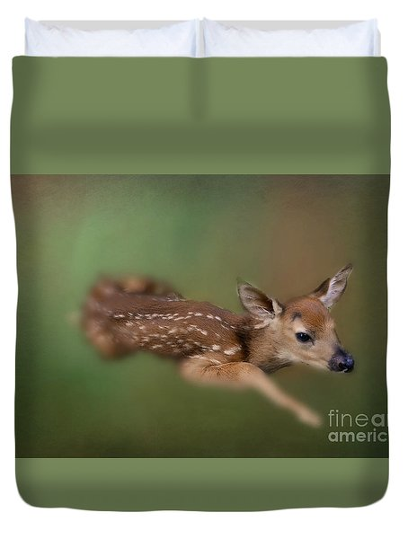 Duvet Cover featuring the photograph Life Begins by Brenda Bostic