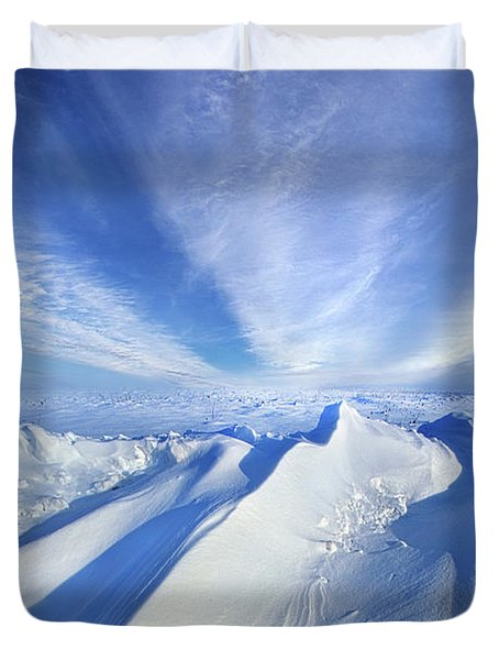 Duvet Cover featuring the photograph Life Below Zero by Phil Koch
