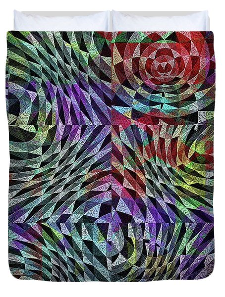 Duvet Cover featuring the digital art Life Currents by Mimulux patricia no No