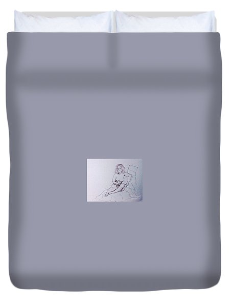 Life Drawing Nude Duvet Cover