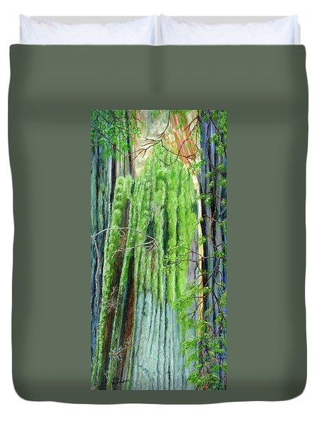 Life In A Redwood Forest Duvet Cover