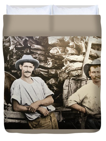 Duvet Cover featuring the photograph Life In Australia 1901 To 1914 by Miroslava Jurcik