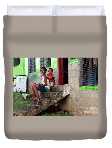 Life In Nagara Fiji Duvet Cover