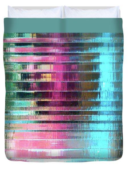 Life In Plastic Duvet Cover by Maria Arango