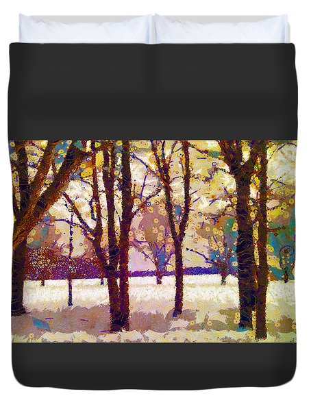 Life In The Dead Of Winter Duvet Cover