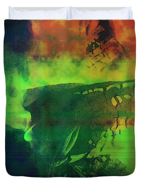 Duvet Cover featuring the photograph Life In The Flames by Shawna Rowe