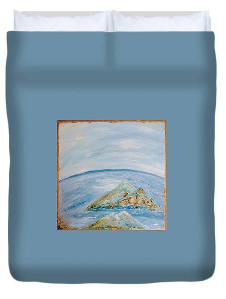 Life In The Middle Of The Ocean Duvet Cover