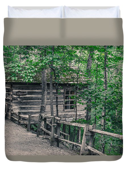 Duvet Cover featuring the photograph Life In The Ozarks by Annette Hugen