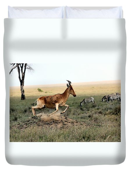 Life In The Wild Duvet Cover by Happy Home Artistry