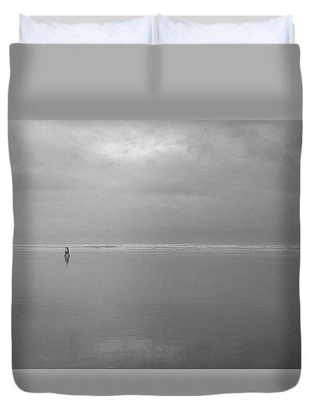 Life Is A Beach Duvet Cover by Suzy Piatt