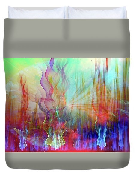Duvet Cover featuring the digital art Life Is A Beautiful Mystery by Linda Sannuti