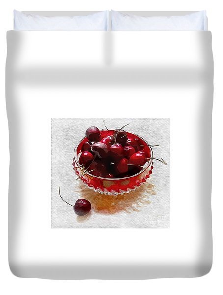 Life Is A Bowl Of Cherries Duvet Cover