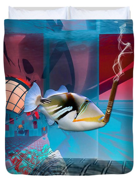 Life Is Good Saltwater Triggerfish Duvet Cover