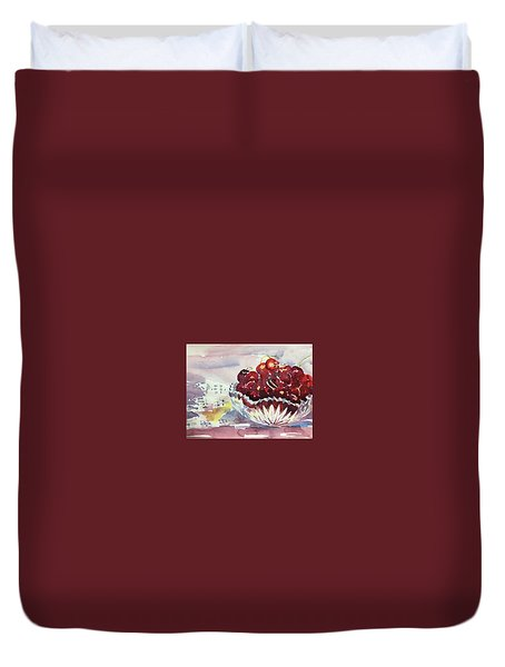 Life Is Just A Bowl Of Cherries Duvet Cover