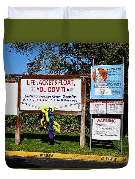 Life Jackets Float Duvet Cover