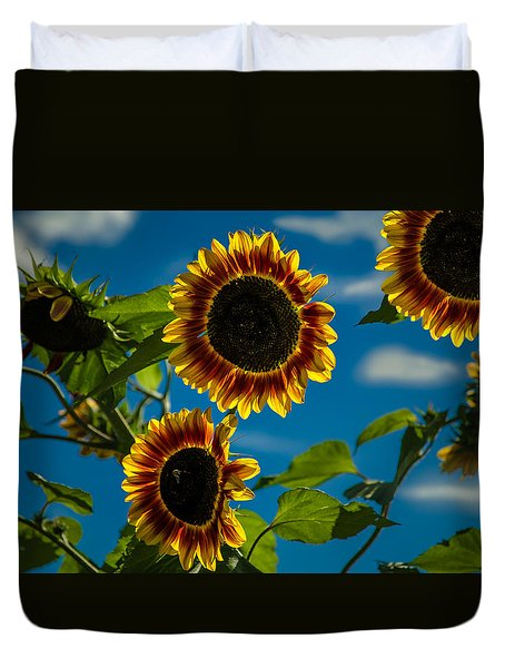 Duvet Cover featuring the photograph Life Of A Bumble Bee by Jason Moynihan