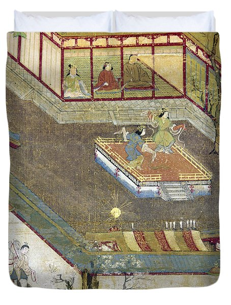 Life Of Buddha Duvet Cover