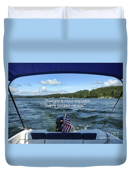 Duvet Cover featuring the photograph Life Of Leisure by Peggy Hughes