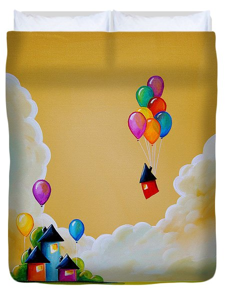 Life Of The Party Duvet Cover by Cindy Thornton