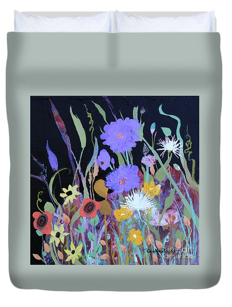Duvet Cover featuring the painting Life On A Summer's Day by Robin Maria Pedrero