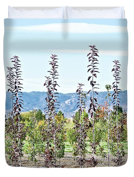 Life On A Tree Farm-foothills View #1 Duvet Cover