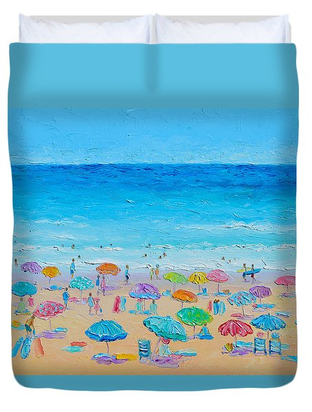 Life On The Beach Duvet Cover