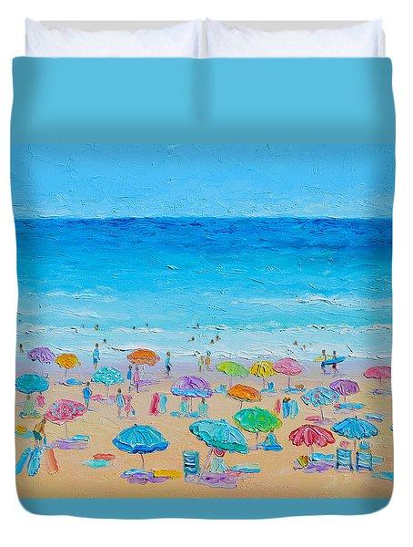 Life On The Beach Duvet Cover