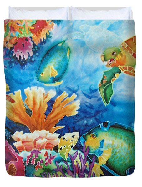Life On The Ledge Duvet Cover by Deborah Younglao