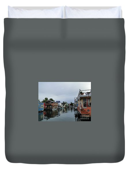 Life On The Water Duvet Cover by Cindy Croal
